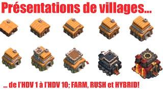 getlinkyoutube.com-Clash of Clans - Présentations de Villages HDV 1 à HDV 10 - Farming , Rush et Hybrid [FR]