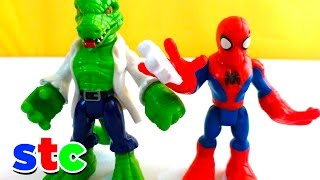 Super Hero Adventures Spiderman vs Lagarto