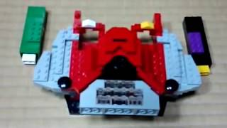 getlinkyoutube.com-LEGOで仮面ライダーW 02 Wドライバーを作ってみた