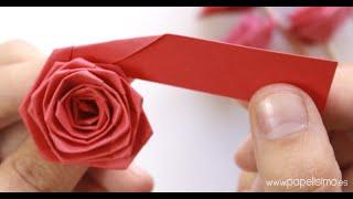 getlinkyoutube.com-Cómo hacer rosas con una tira de papel (tipo quilling)