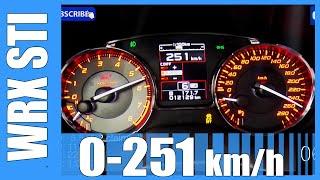 getlinkyoutube.com-2016 Subaru WRX STI Acceleration FAST! 0-251 km/h Beschleunigung Test Autobahn