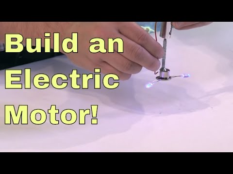 Build a Simple Electric Motor in 5 minutes!