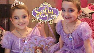 getlinkyoutube.com-Sofia The First Inspired Makeup Tutorial (Disney Princess) Halloween edition part 2