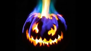 getlinkyoutube.com-Rainbow Fire Halloween Jack-o-Lantern