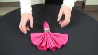 getlinkyoutube.com-How to make fan fold napkin.