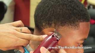 getlinkyoutube.com-How To: Taper Mini Fro/Curls | By: Chuka The Barber