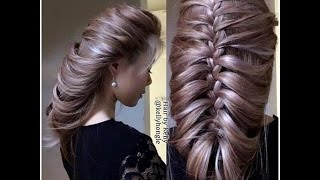 getlinkyoutube.com-How to do a beautiful hair braid in 2 mins