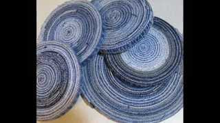 Вот такие шикарные коврики из джинсов украсят ваш дом