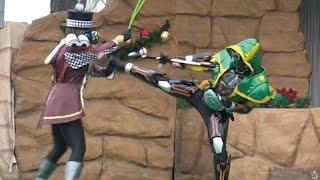 getlinkyoutube.com-【仮面ライダーエグゼイドの前に仮面ライダーゴースト】キャラクターショー ロビン魂が登場!ガンガンセイバーアローモードも登場/ Kamen Rider Chost《オモレッド》