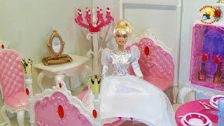getlinkyoutube.com-Мебель для куклы: Спальня принцессы Gloria  / Princess bedroom Gloria doll furniture