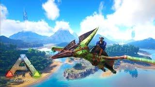 getlinkyoutube.com-ARK: Survival Evolved - FLYING MOUNT & VOLCANO EXPLORATION! (ARK: Survival Evolved Gameplay)