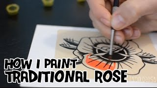 getlinkyoutube.com-How I paint a Traditional Rose / Pintando una Rosa Tradicional