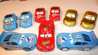 getlinkyoutube.com-Disney Pixar Cars Dinoco Lightning McQueen and Jerry Recycled Batteries from The Pixar Cars Characte