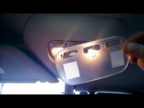 How to Change Replacement INTERIOR Bulbs on LED... C4 Grand Picasso. Подсветка Салона