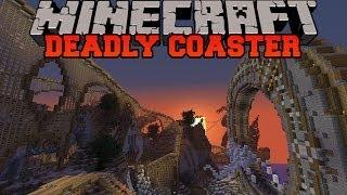 getlinkyoutube.com-Minecraft: DEADLY ROLLER COASTER (Roller Coaster Adventure with story!) Build Showcase