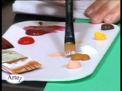Técnica de pintura con acrílico sobre tela