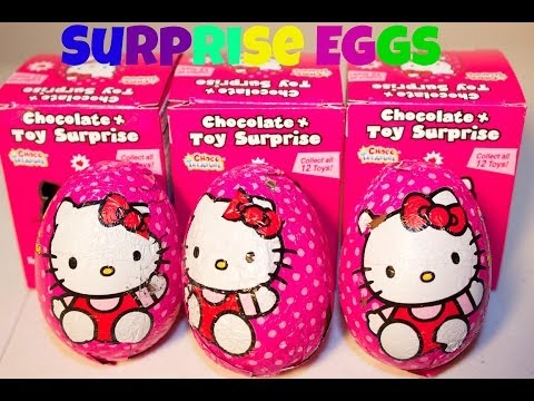3 HELLO KITTY SURPRISE EGGS| CHOCOLATE SURPRISE EGGS
