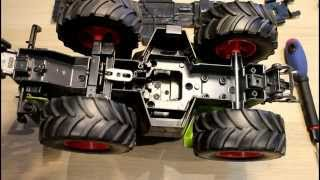 getlinkyoutube.com-RC Claas Xerion Build Part 1- Dismantling the RC Car and Tractor