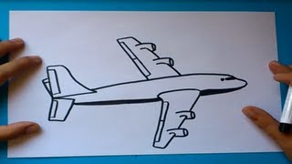 getlinkyoutube.com-Como dibujar un avion paso a paso 2 | How to draw a plane 2