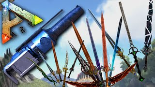 getlinkyoutube.com-Ark Survival Evolved - EPIC BLADES, HARPOON GUN MOD - Gizmodian Blade Pack Mod Gameplay 1080p HD