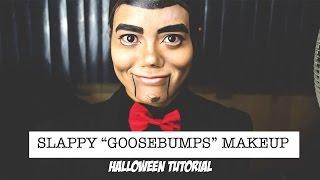 getlinkyoutube.com-Slappy Goosebumps Halloween Makeup Tutorial