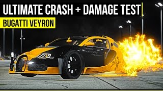 GTA 5 - Ultimate Crash and Damage Test - Bugatti Veyron