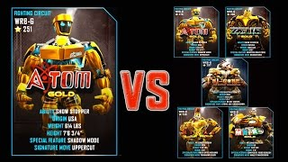 getlinkyoutube.com-Real Steel WRB FINAL Atom Gold Series of fights GOLD NEW ROBOT (Живая Сталь)