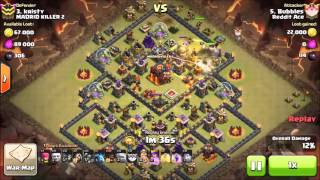 getlinkyoutube.com-Clash of Clans, TH10 Clan War: Giant Rush + Pekka + Hogs, 3 stars