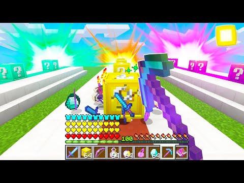 CORSA DEI LUCKY BLOCK nella VITA REALE con uno YOUTUBER! - Minecraft ITA
