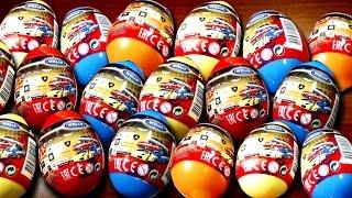 getlinkyoutube.com-20 Surprise eggs Kinder Surprise Cars Welly