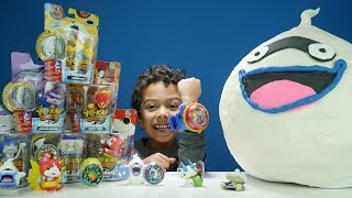 getlinkyoutube.com-GIANT YO-KAI Watch WHISPER Play-Doh Surprise Egg + Medal Moments Toys + MORE!