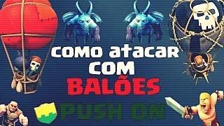 getlinkyoutube.com-Clash of Clans - Como atacar com balões e servos lvl 6 - Guerra de clans