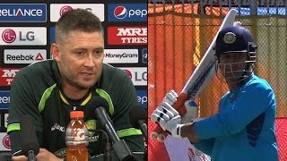 getlinkyoutube.com-2015 WC: What Clarke said on Dhoni's captaincy