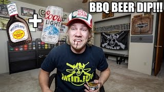 getlinkyoutube.com-Mixing BBQ + Beer in my DIP!!! *PUKE WARNING*