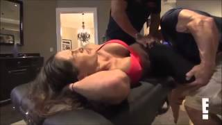 getlinkyoutube.com-Total Divas Season 1, Episode 7 clip John and NIkki Stretch Together  9/7/13