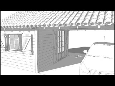 Présentation d'un abris de jardin et voiture