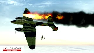 getlinkyoutube.com-IL-2 Sturmovik Battle Of Stalingrad Crashes Compilation #1 1440p 60 fps