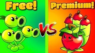 getlinkyoutube.com-PVZ Free vs Premium ⇒Plants vs Zombies 2 APPLE MORTAR Vs THREEPEATER