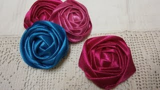 getlinkyoutube.com-DIY ribbon rose tutorial,How to,fabric flowers,easy