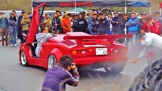 getlinkyoutube.com-爆音大会 優勝128db 【Track and Show 2015】 車高短 Lowered Lowcar exhaust