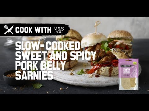 M&S | Cook With M&S... slow-cooked sweet and spicy pork belly sliders