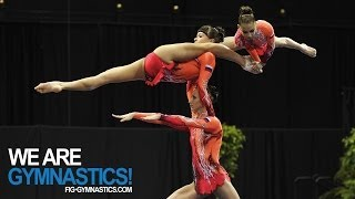 getlinkyoutube.com-2012 Acrobatic Worlds - LAKE BUENA VISTA, USA - Women's Group Final - We are Gymnastics!