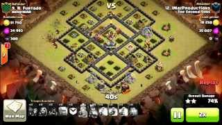 getlinkyoutube.com-4 golem hog attack + Th10 3 star
