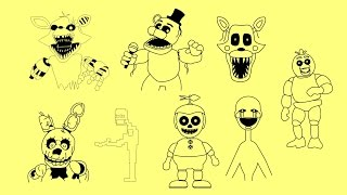 getlinkyoutube.com-How to draw Five nights at Freddy's 3 FNAF characters - Springtrap, Foxy, Chica, Freddy