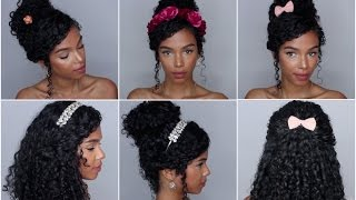 getlinkyoutube.com-5 Easy Hairstyles with Accessories Vol. 1