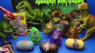 DINOSAURS  Jurassic eggs unboxing ! 4D puzzle Surprise eggs Dinosaur !KINETIC SAND Dinosaur T rex