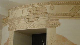 getlinkyoutube.com-Мастер класс Барельеф ротонды из гипсовой шпаклевки и декоративной штукатурки своими руками