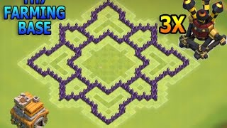 "getlinkyoutube.com-CoC- ""NEW!"" BEST TOWN HALL 7 (TH7) FARMING (HYBRID) BASE with 3 Air Defenses - New Update 2016"
