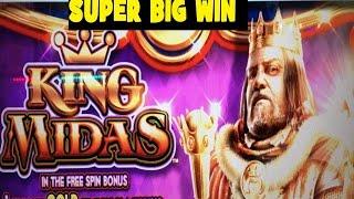 getlinkyoutube.com-★SUPER BIG WIN★☆KING MIDAS Slot machine (WMS)☆The power of 10 x !  $1.50 Bet 栗スロット