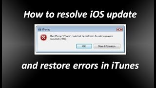 getlinkyoutube.com-How to Resolve iOS update and restore errors in iTunes